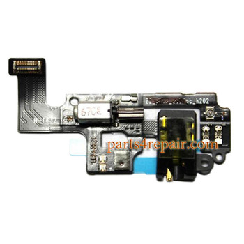 Earphone Jack Flex Cable with Vibrator for Lenovo Zuk Z2