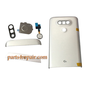 Back Housing with Small Parts for LG G5 H840 H850 -Silver