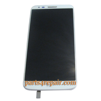 Complete Screen Assembly with Bezel for LG G2 D800 from www.parts4repair.com