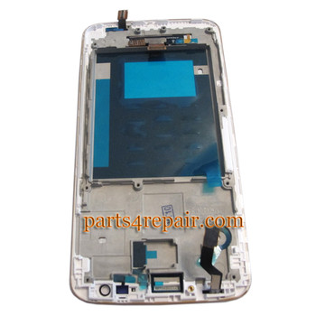 We can offer Complete Screen Assembly with Bezel for LG G2 D800 -White
