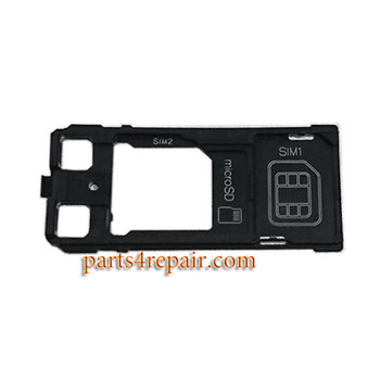 Dual SIM Tray without Cap for Sony Xperia XZ