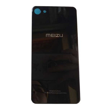 Back Glass Cover with Adhesive for Meizu U10 -Black