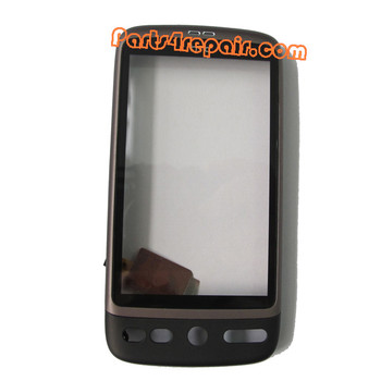 Touch Screen with Front Cover for HTC Desire -Black