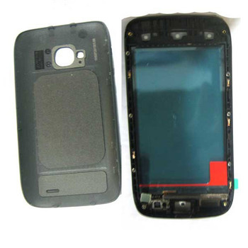 Back Housing Cover with Front Glass for Nokia Lumia 710 -Black