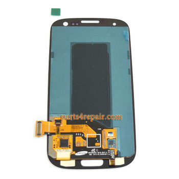 Complete Screen Assembly without Bezel for Samsung I9300 Galaxy S III -White