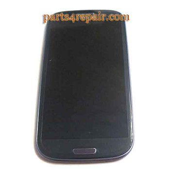 Complete Screen Assembly with Bezel for Samsung I9300 Galaxy S III-Blue