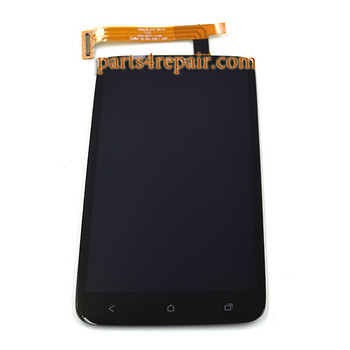HTC One XL Complete Screen Assembly from www.parts4repair.com