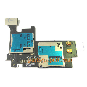 Samsung Galaxy Note II N7100 SIM Holder Flex Cable from www.parts4repair.com
