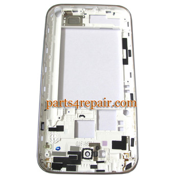 Samsung Galaxy Note II N7100 Middle Cover with Side Keys -White