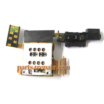 Sony Xperia ion LTE LT28 SIM Holder Flex Cable from www.parts4repair.com