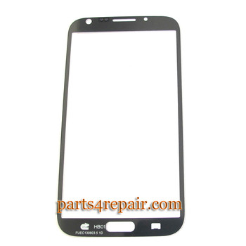 Samsung Galaxy S Note II N7100 Touch Lens -White