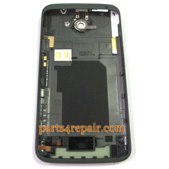 HTC One X (AT&T) Housing Cover with Side Keys -Black
