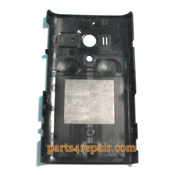 Back Cover Replacement for Sony Xperia acro S LT26W -Black