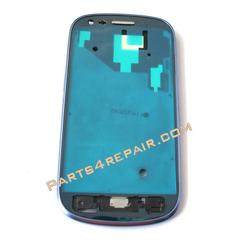 Samsung I8190 Galaxy s III mini Front Bezel for LCD Screen -Blue