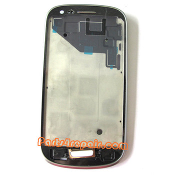 Samsung I8190 Galaxy s III mini Front Bezel for LCD Screen -White from www.parts4repair.com