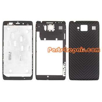 Full Housing Cover for Motorola RAZR HD XT925 from www.parts4repair.com
