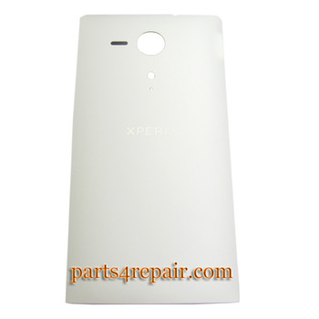 Back Cover for Sony Xperia SP m35h -White