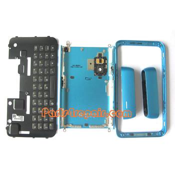 Full Housing Cover for Nokia E7 / E7-00 -Blue