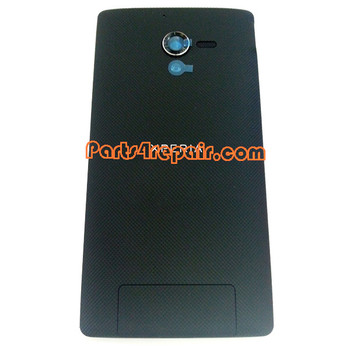 Back Cover for Sony Xperia ZL L35H -Black