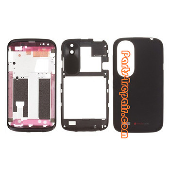 Full Housing Cover for HTC Desire V T328W -Black from www.parts4repair.com