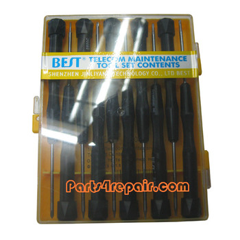 10 in 1 BEST Cellphone Repair screwdriver Precision Tool Set 8800C -Black