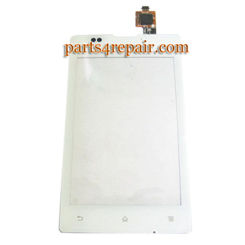 Touch Screen Digitizer for Sony Xperia E C1505 -White from www.parts4repair.com