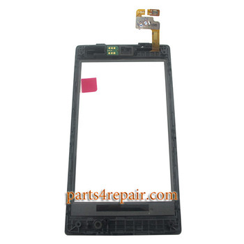 Touch Screen Digitizer with Bezel for Nokia Lumia 520
