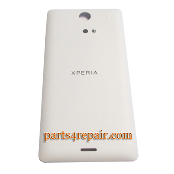 Back Cover for Sony Xperia ZR M36H -White