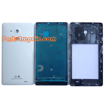 Full Housing Cover for Huawei Ascend Mate MT1-U06 -White
