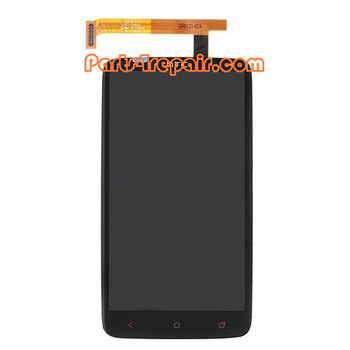 Complete Screen Assembly with LGP for HTC One X + from www.parts4repair.com