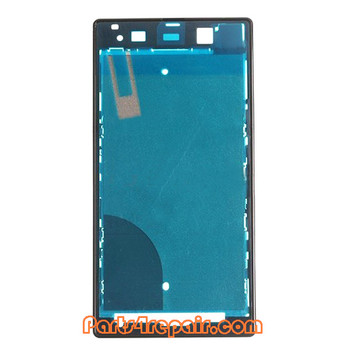 Front Housing Cover for Sony Xperia Z1 L39H -Black from www.parts4repair.com