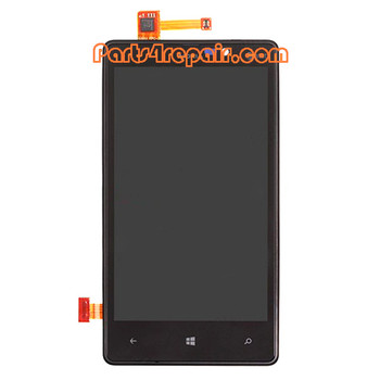 Complete Screen Assembly with Bezel for Nokia Lumia 820 (at&t Version) from www.parts4repair.com