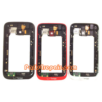 Middle Frame for Nokia Lumia 822 -Black from www.parts4repair.com