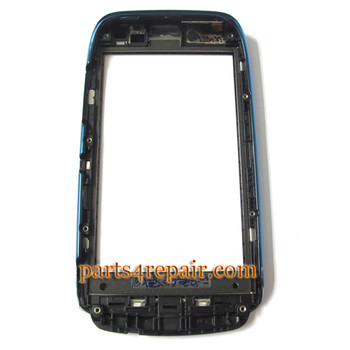 Nokia Lumia 610 Touch Screen with Front Bezel -Blue