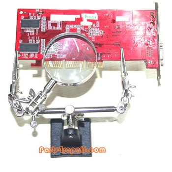 Soldering Workstation Stand with 5X Magnifier & Adjustable Clamps