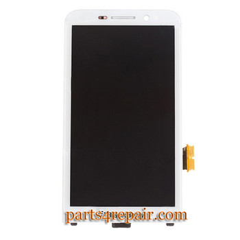 Complete Screen Assembly with Front Bezel for BlackBerry Z30 -White from www.parts4repair.com