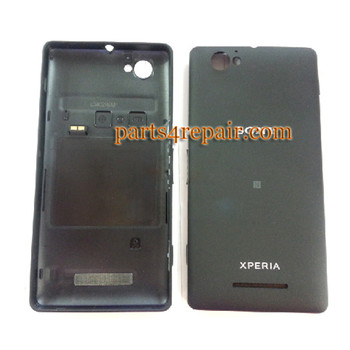 Back Cover with NFC & Side Keys for Sony Xperia M C1905 -Black from www.parts4repair.com