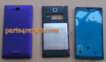 Full Body Housing Cover for Sony Xperia C S39H -Purple from www.parts4repair.com