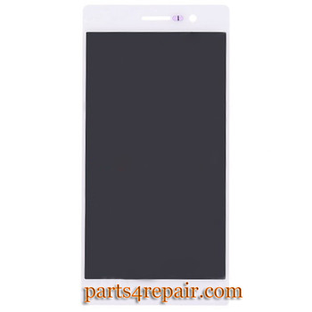 Complete Screen Assembly for Huawei Ascend P7 -White from www.parts4repair.com