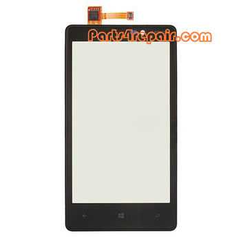 Touch Screen with Bezel for Nokia Lumia 820 from www.parts4repair.com