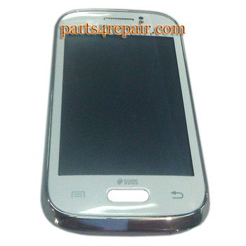 Complete Screen Assembly with Bezel for Samsung Galaxy Fame S6810 -White from www.parts4repair.com