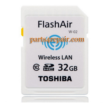 Toshiba FlashAir WIFI WIRELESS SDHC 32GB Class 10 Flash Memory from www.parts4repair.com