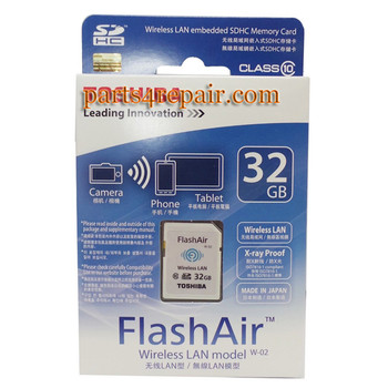 We can offer Toshiba FlashAir WIFI WIRELESS SDHC 32GB Class 10 Flash Memory