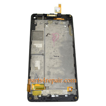 Complete Screen Assembly with Bezel for ZTE Nubia Z5S mini NX403A -Black
