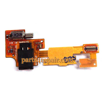 Earphone Jack Flex Cable for Nokia X from www.parts4repair.com