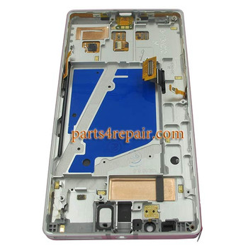 Complete Screen Assembly with Bezel for Nokia Lumia 930 -Silver