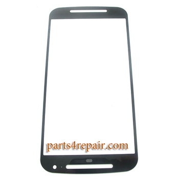 Front Glass OEM for Motorola Moto G (2nd Gen) -Black