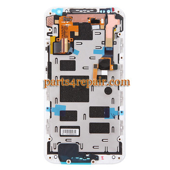 Complete Screen Assembly with Bezel for Motorola Moto X2 XT1096 (for Verizon) -White