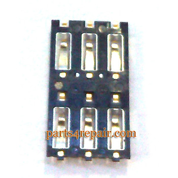 SIM Contact Connector for Xiaomi M3 from www.parts4repair.com