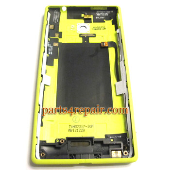 Back Cover for HTC Windows Phone 8X (AT&T Version)-Yellow
